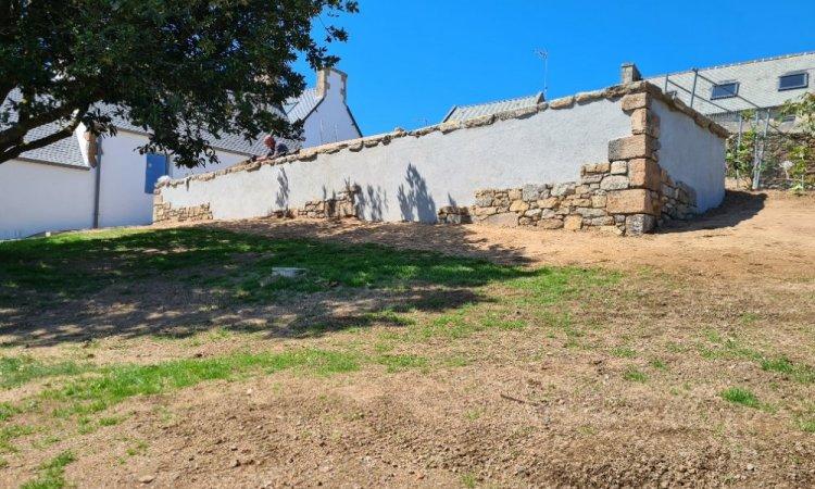 Mur de soutènement du parc de stationnement